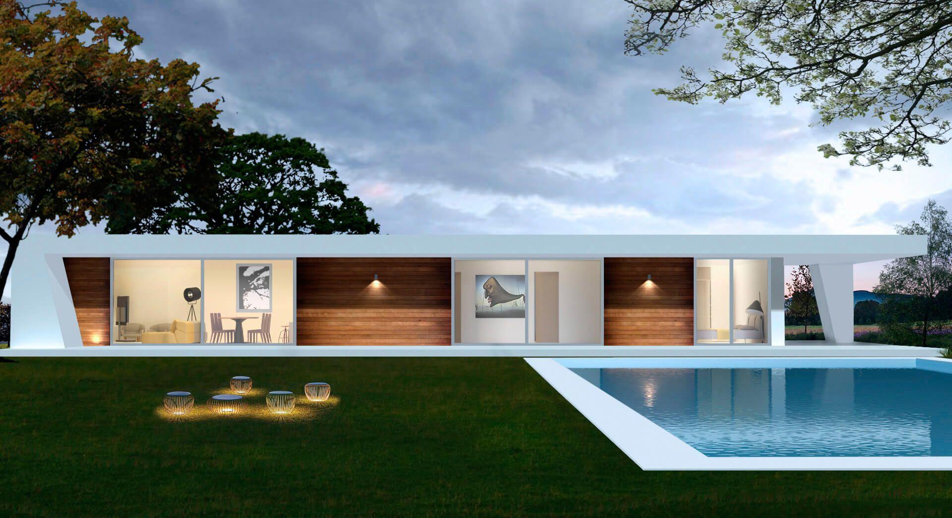 Dise o de chalets modernos en galicia construcci n y reformas - Fachadas de casas modernas planta baja ...