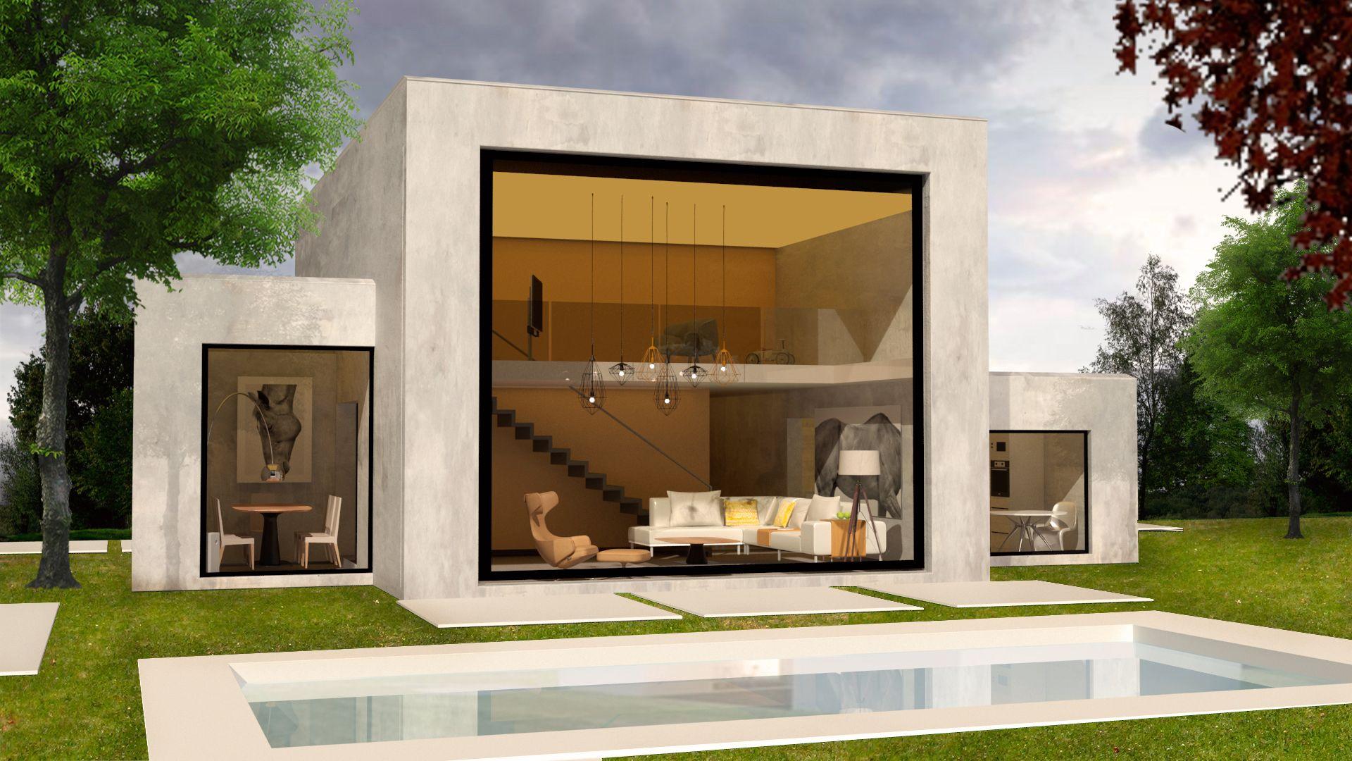 Construcci n de casas y viviendas unifamiliares modernas - Fachadas viviendas unifamiliares ...